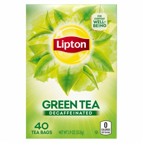 Lipton Decaffeinated Green Tea Bags 40 Count Perspective: back
