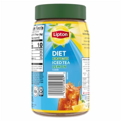 Lipton Lemon Decaffeinated Diet Iced Tea Mix Perspective: back