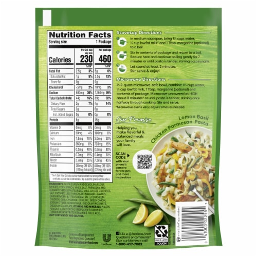 Knorr Pasta Sides Parmesan Fettuccine & Spinach Pasta Perspective: back