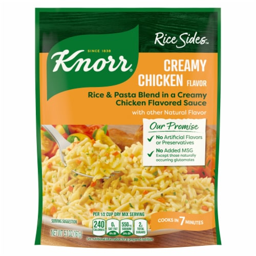 Knorr Rice Sides Creamy Chicken Flavor Rice and Pasta Blend Perspective: back