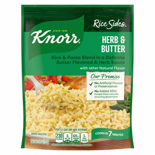 Knorr Rice Sides Herb & Butter Rice and Pasta Blend Perspective: back