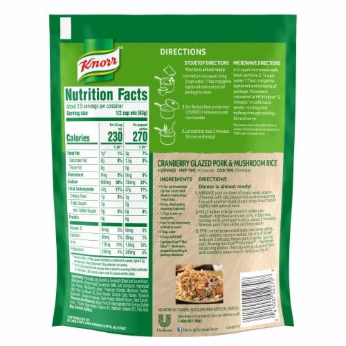 Knorr Rice Sides Mushroom Flavor Rice and Pasta Blend Perspective: back