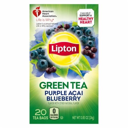 Lipton Purple Acai Blueberry Green Tea Bags Perspective: back