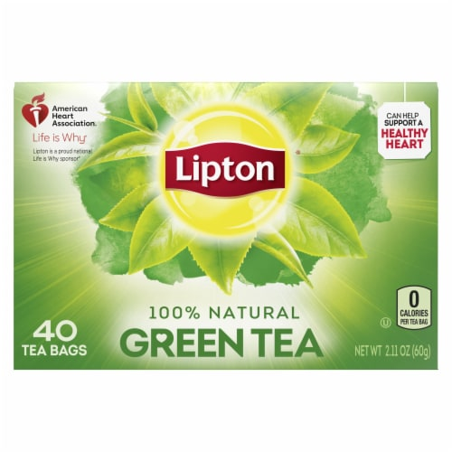 Lipton 100% Natural Green Tea Bags Perspective: back