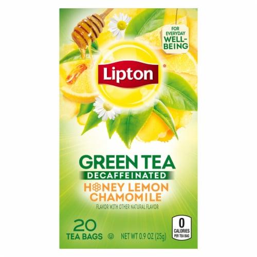 Lipton Decaffeinated Honey Lemon Chamomile Green Tea Bags Perspective: back