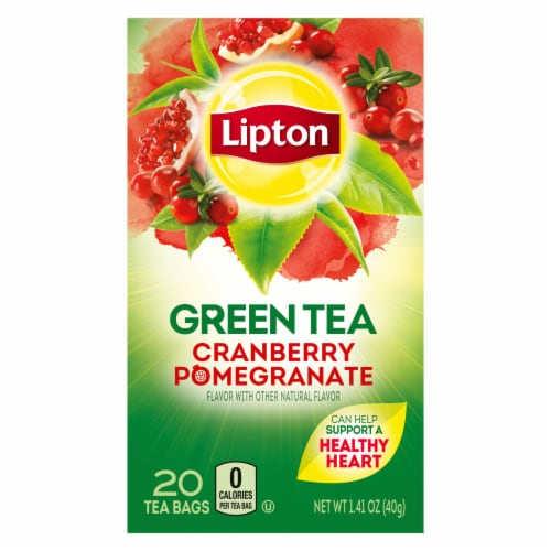 Lipton Cranberry Pomegranate Green Tea Bags Perspective: back