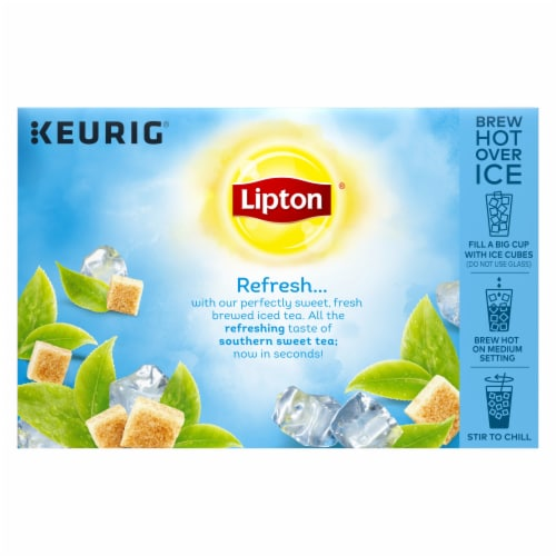 Lipton Iced Sweet Tea K-Cup Pods Perspective: back