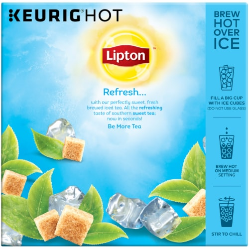 Lipton Southern Sweet Iced Tea K-Cup Pods Perspective: back