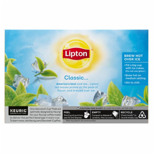 Lipton Unsweetened Iced Tea K-Cup Pods Perspective: back
