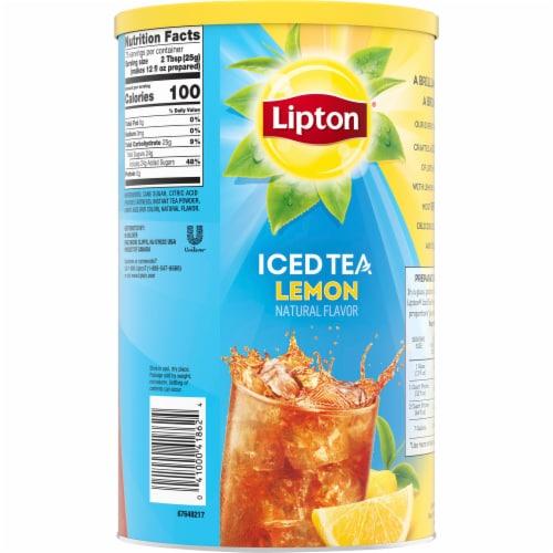 Lipton Lemon Sweetened Iced Tea Mix Perspective: back
