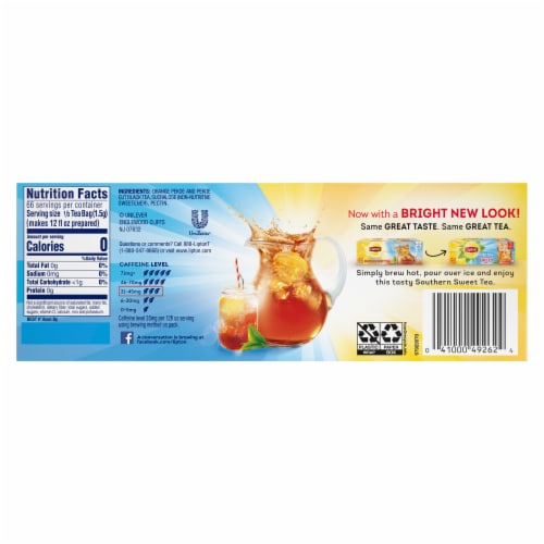 Lipton Southern Sweet Family-Sized Iced Tea Bags Perspective: back