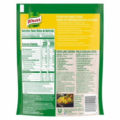 Knorr® Fiesta Sides Yellow Rice Perspective: back