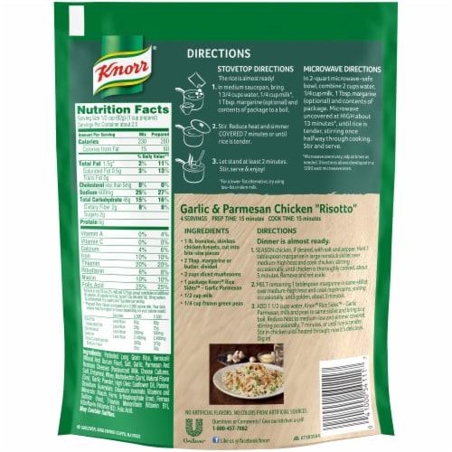 Knorr® Rice Sides Garlic Parmesan Rice & Pasta Blend Perspective: back