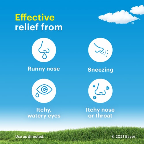 Claritin 24 Hour Non-Drowsy Allergy Tablets 10mg Perspective: back