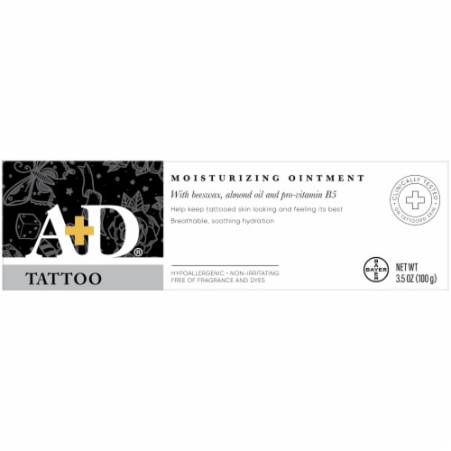 A&D Tattoo Moisturizing Ointment Perspective: back