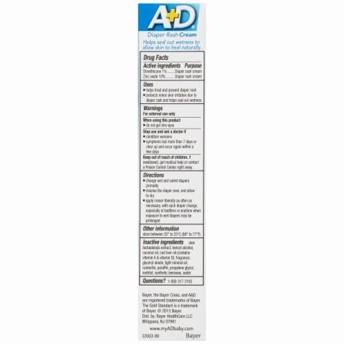 A+D Treat Diaper Rash Cream Perspective: back