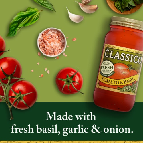 Classico Tomato and Basil Pasta Sauce Perspective: back