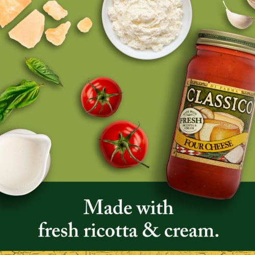 Classico Four Cheese Pasta Sauce Perspective: back