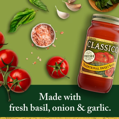 Classico Traditional Sweet Basil Pasta Sauce Perspective: back