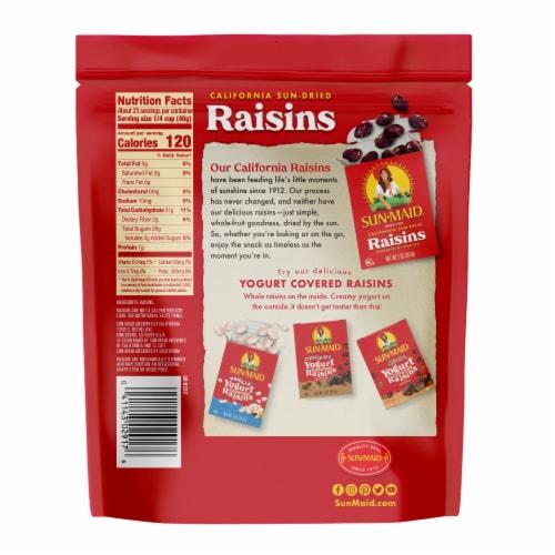 Sun-Maid California Sun-Dried Raisins Perspective: back