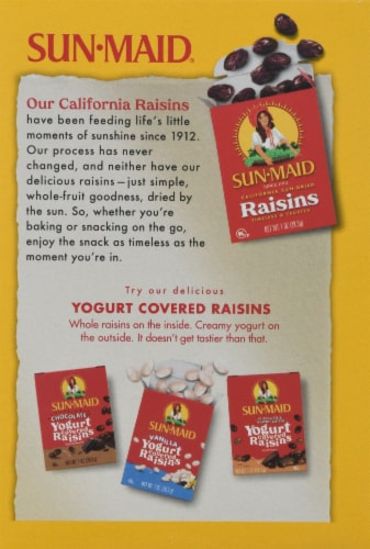 Sun-Maid California Golden Raisins Perspective: back