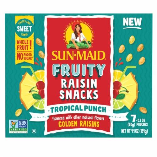 Sun-Maid Fruity Tropical Punch Raisin Snacks Perspective: back