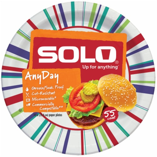 Solo Heavy Duty 10-Inch Paper Plates Perspective: back