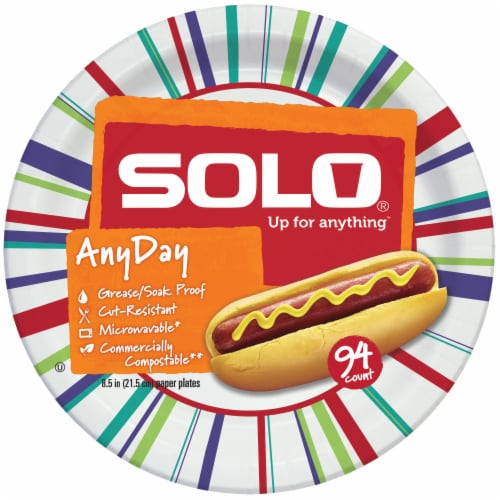 Solo Decorated 8.5-Inch Assorted Plates Perspective: back