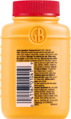 Gold Bond Original Strength Triple Action Relief Body Powder Perspective: back