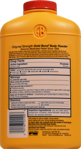 Gold Bond Medicated Original Strength Body Powder Perspective: back