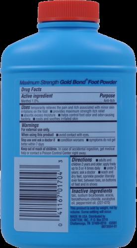 Gold Bond Medicated Maximum Strength Foot Powder Perspective: back