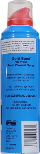 Gold Bond No Mess Foot Powder Spray Fresh Scent 2x Odor Absorbing Power Perspective: back