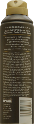 Gold Bond Ultimate Men's Essentials Body Powder Spray Nightfall Scent Perspective: back