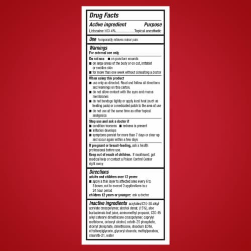 Aspercreme with Lidocaine Maximum Strength Odor Free Pain Relieving Creme Perspective: back
