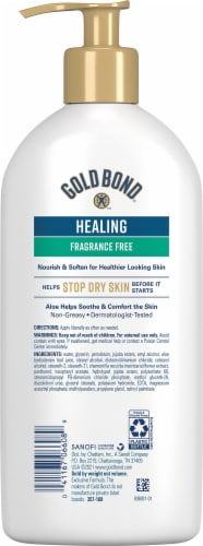 Gold Bond Ultimate Healing Fragrance Free Lotion Perspective: back