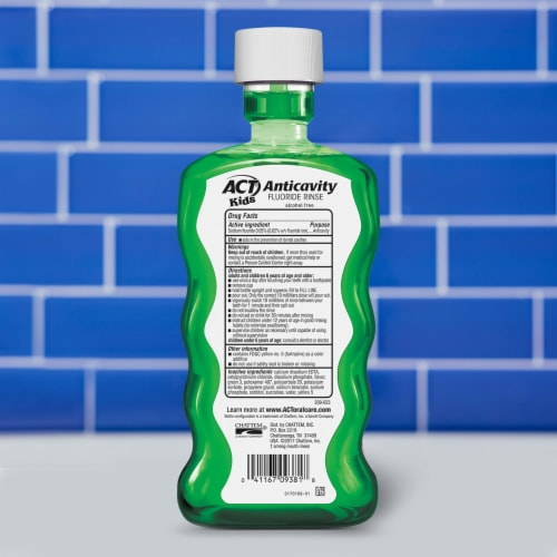 ACT Kids Wild Watermelon Anticavity Fluoride Rinse Mouthwash Perspective: back