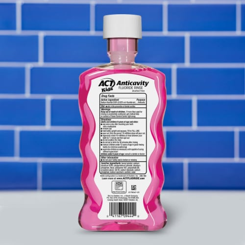 Act Kids Bubblegum Blowout Anticavity Fluoride Rinse Perspective: back