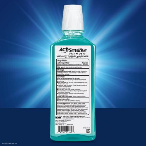 ACT Total Care Sensitive Formula Mint Mouthwash Perspective: back