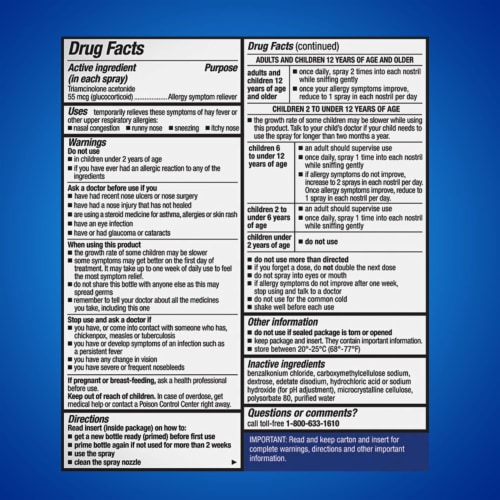 Nasacort Allergy 24-Hour Non-Drowsy Multi-Symptom Relief Nasal Spray Perspective: back