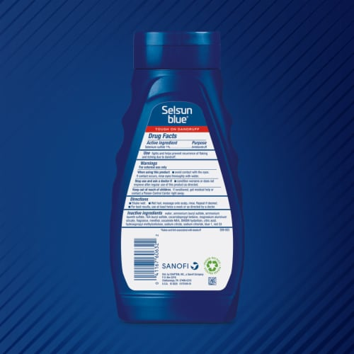 Selsun Blue® Maximum Strength Medicated with Menthol Dandruff Shampoo Perspective: back