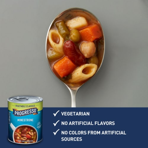 Progresso Vegetable Classics Minestrone Soup Perspective: back