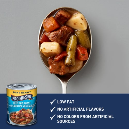 Progresso Rich & Hearty Beef Pot Roast with Country Vegetables Soup Perspective: back