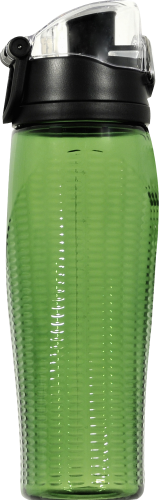 Thermos Green Intak Beverage Bottle With Meter Perspective: back