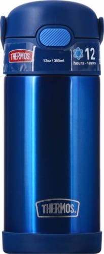 Thermos FUNtainer Stainless Steel Bottle - Navy Perspective: back