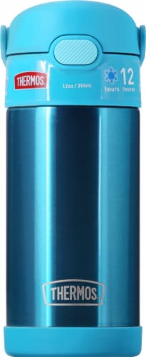 Thermos FUNtainer Stainless Steel Bottle - Teal Perspective: back