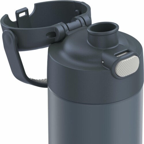 Thermos FUNtainer Vacuum Insulated Steel Water Bottle with Spout - Stone Slate Perspective: back