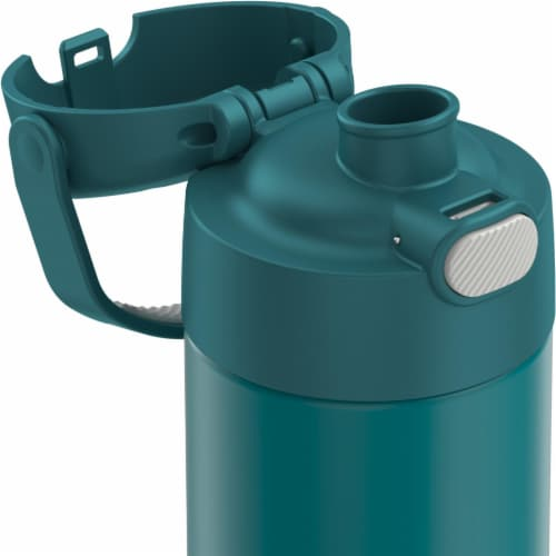 Thermos FUNtainer Vacuum Insulated Steel Water Bottle with Spout - Sea Green Perspective: back