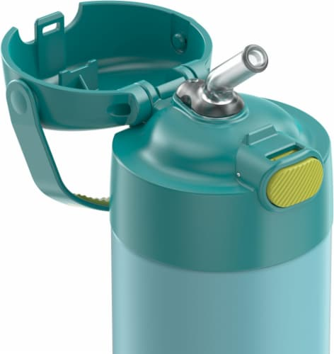 Thermos FUNtainer Stainless Steel Water Bottle - Blue/Green Perspective: back