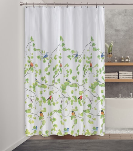 HD Designs Terrasse Fabric Shower Curtain Perspective: back