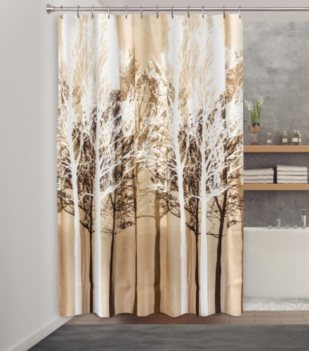HD Designs® Forest Fabric Shower Curtain Perspective: back